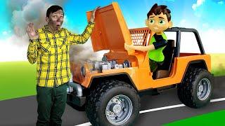Бен 10 в видео онлайн – Кто сломал машину Бен Тена? – Новые игры для мальчиков в Автомастерской.