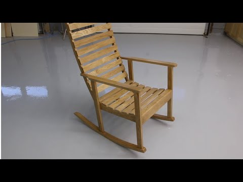 Building a wooden rocking chair