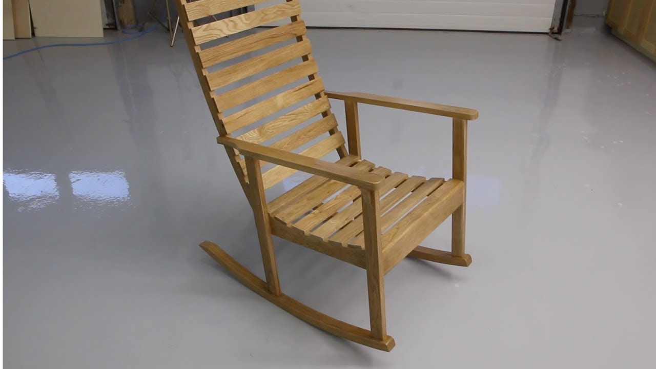 Building a wooden rocking chair - YouTube