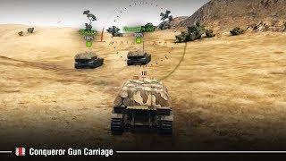 Conqueror Gun Carriage ГК 10500 дамага. Ржали всем кланом
