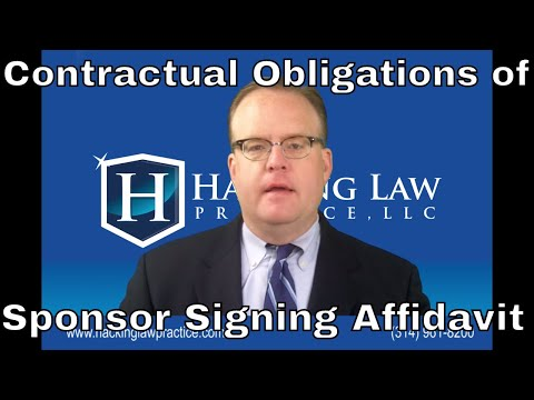 Contractual obligations of sponsor signing affidavit of support may be enforced