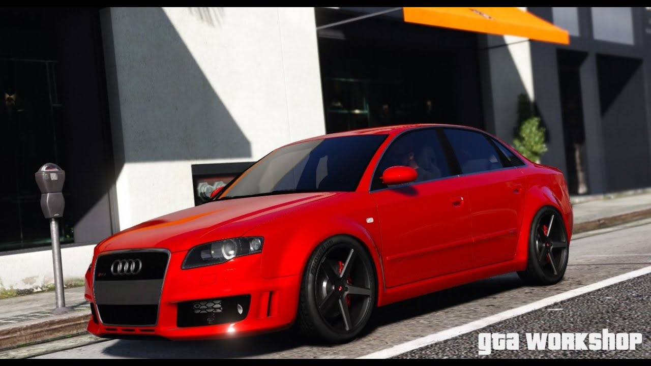 gta 5 mod audi rs4 2006 b7 quattro mod fast drive pc 60 fps youtube. Black Bedroom Furniture Sets. Home Design Ideas