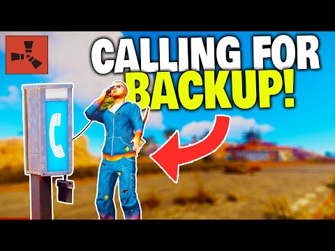 Calling for Helicopter Backup with the NEW Telephone Item! - Rust Solo Survival (Part 2/3)
