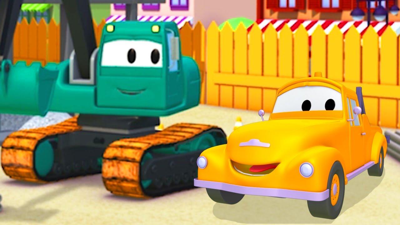 Tom il carro attrezzi e edgar l escavatore in car city
