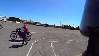 M1 Exit MSF(Motorcycle Safety Foundation) Test 1 A & B