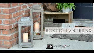 Rustic Wooden Latern Build