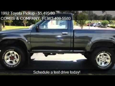 1992 toyota pickup for sale in lakeland fl 33813 youtube. Black Bedroom Furniture Sets. Home Design Ideas