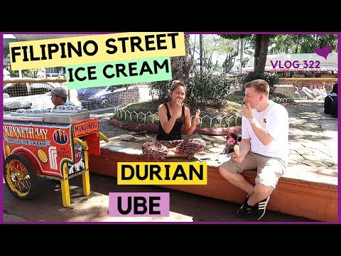 PHILIPPINES STREET FOOD DIRTY ICE CREAM?? + LAKWATSA SA DAVAO CITY!!