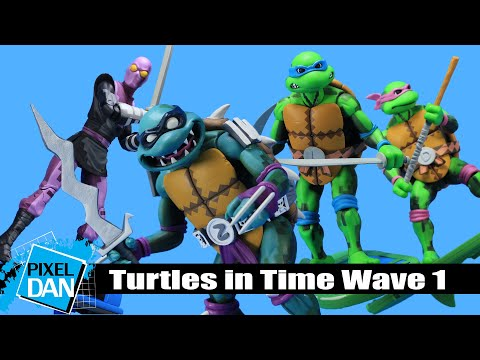 NECA TEENAGE MUTANT NINJA TURTLES TURTLES IN TIME WAVE 1 SLASH ACTION FIGURE