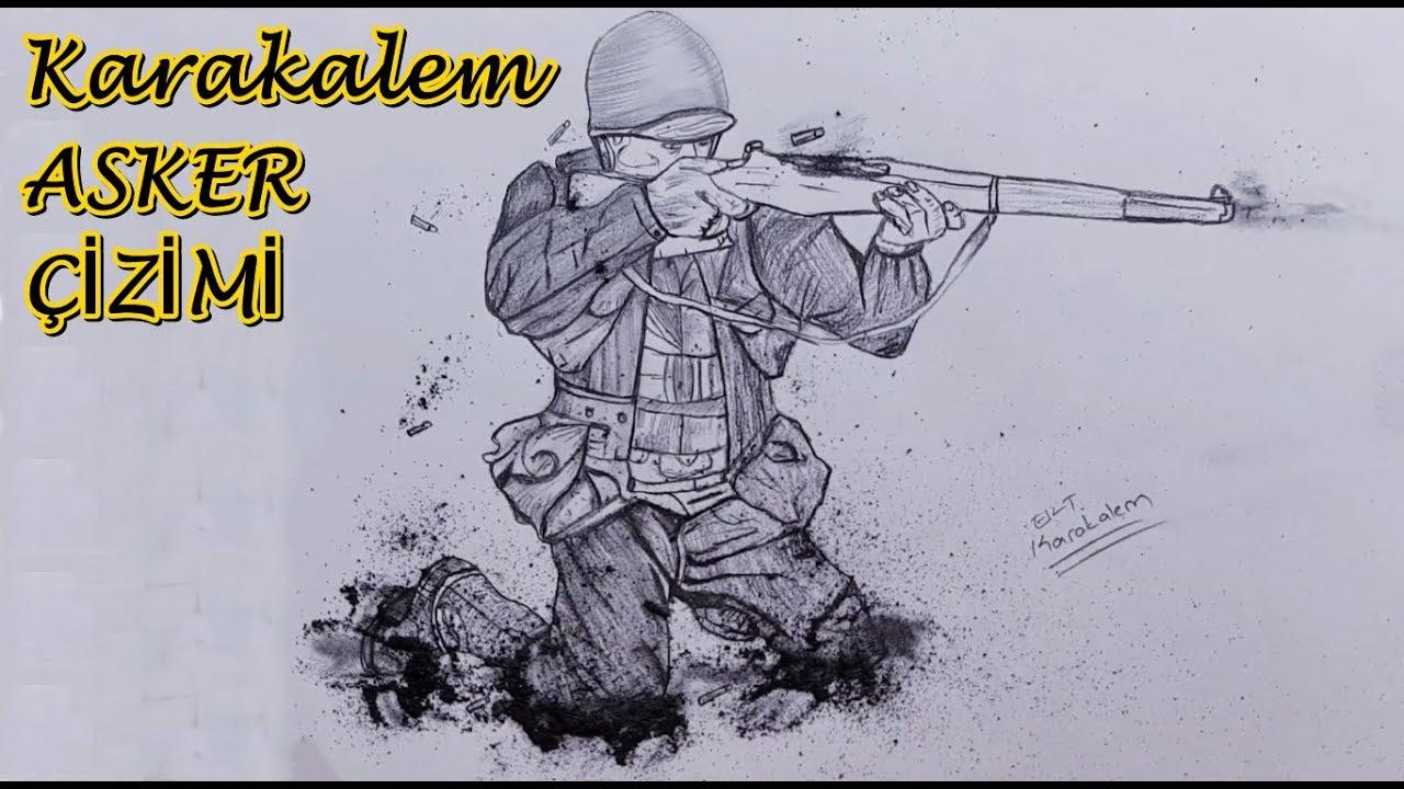 Karakalem Asker Cizimi 18 Mart Canakkale Ile Ilgili Resim Cizimi