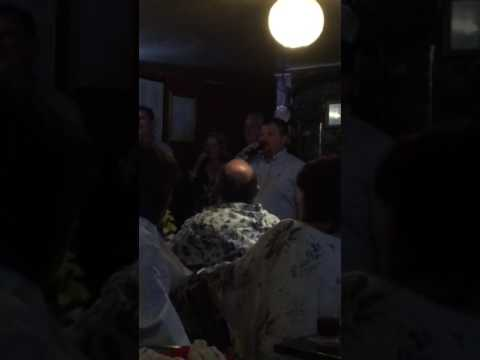 David Everton singing nessan dorma on karaoke.