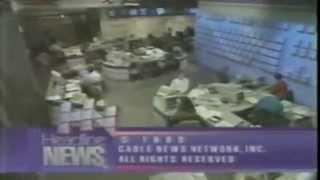 CNN news in Decemeber 1990 during Desert Storm/Desert Shield featuring Homestead Air Force Base
