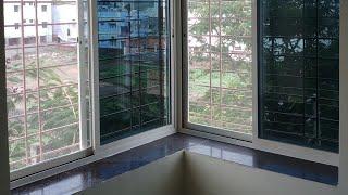 Aluminium corner  window frame double sided detail dimension