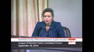 2014 election Alameda County Office of Education, Superintendent