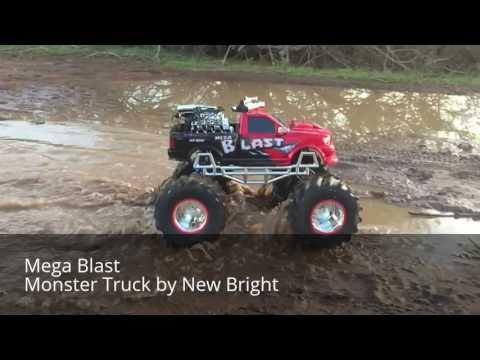 New Bright Mega Blast Monster Truck   Robert & Sebastian Cool Dude Reviews