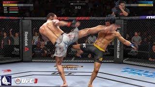 Ea Sports UFC 3: Bruce Lee vs. CM Punk (Epic Fight!)