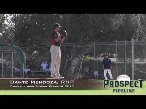 Dante Mendoza Prospect Video, RHP, Torrance High School Class of 2017, Side Angle