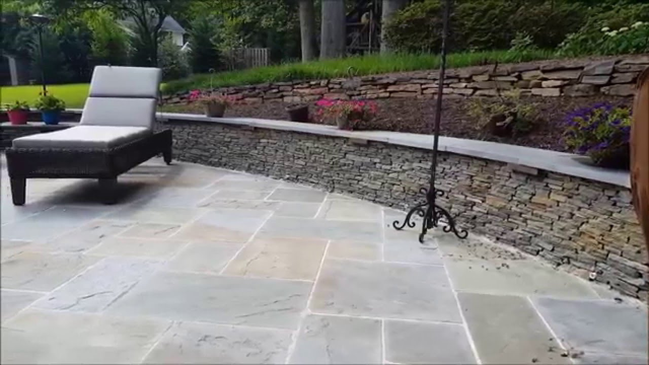 Flagstone Patio, Seating Walls, And Fire Pit In Burke, VA   YouTube