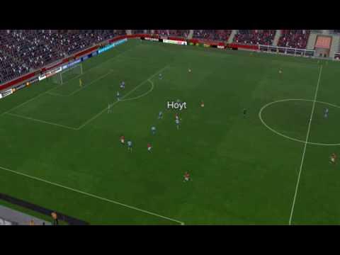 Football Manager Man Utd vs West Ham - Hoyt Goal 4 minutes