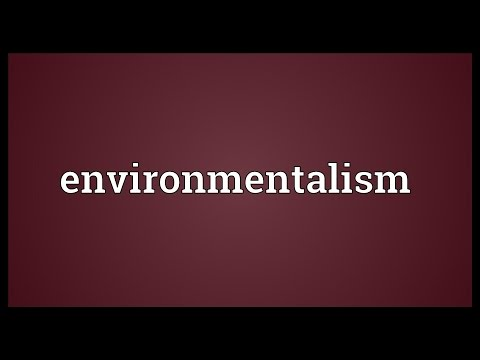 Environmentalism Meaning