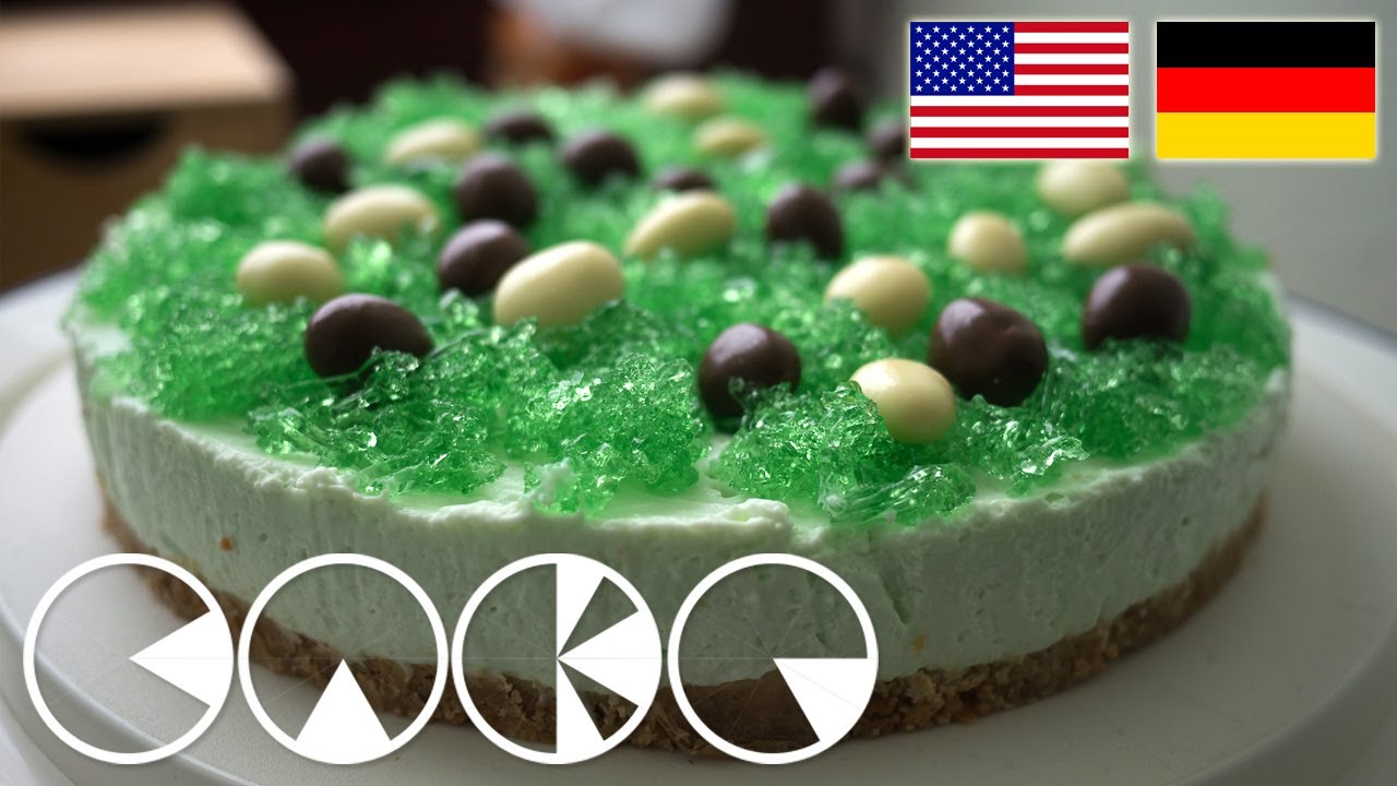GRNE WIESE TORTE Rezept  GREEN MEADOW TART Recipe  YouTube