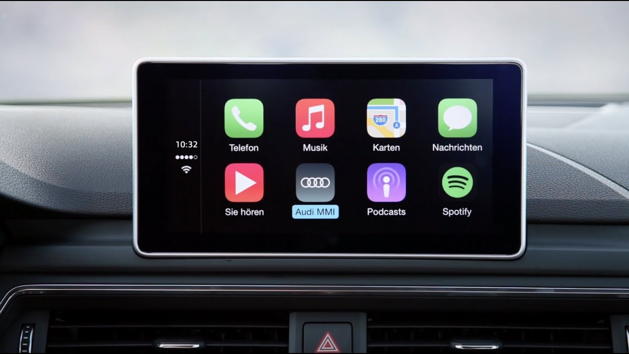 Das Audi Smartphone Interface Im Audi A4 Youtube