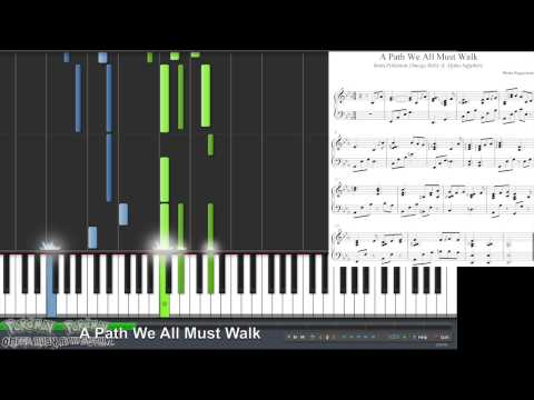 Pokémon ORAS - A Path We All Must Walk (Wally - Emotion) (Synthesia Piano Tutorial)