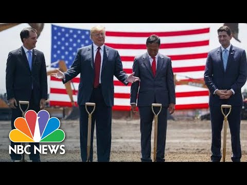 President Donald Trump Touts Job Creation At Foxconn Groundbreaking In Wisconsin | NBC News