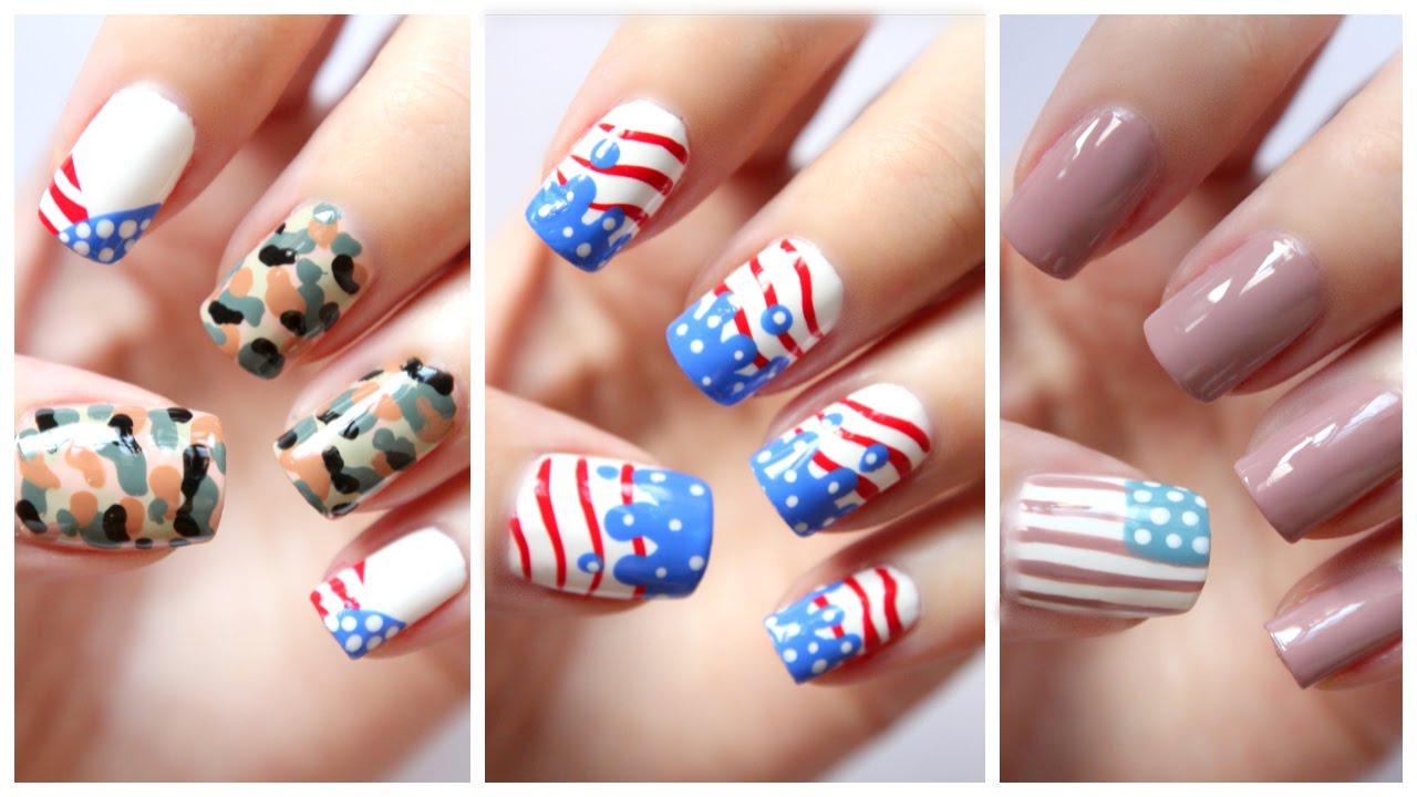 Fourth of July Nails!!!  Three Cute Designs ...