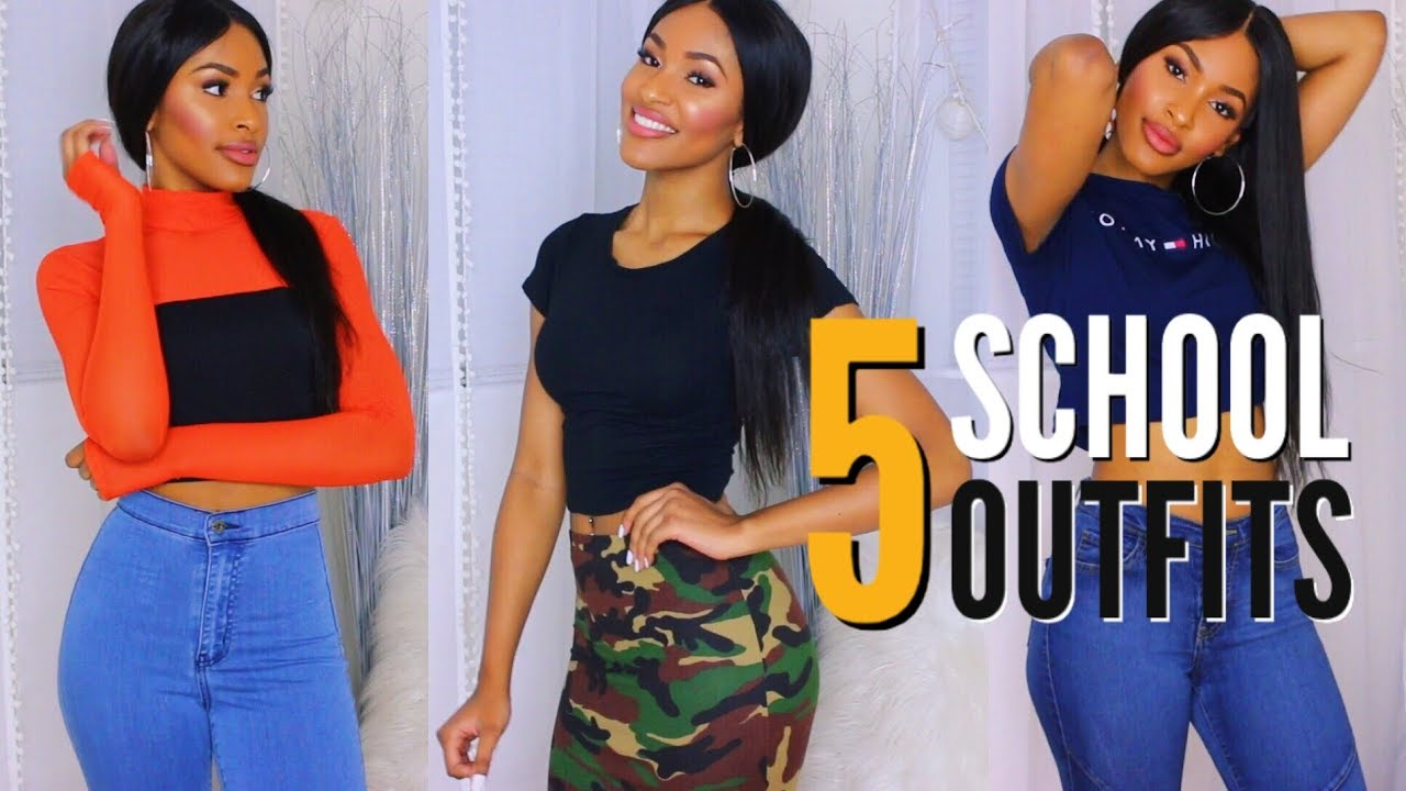 5 Back To School Outfits Ideas | Bad and Boujee For a Week 1