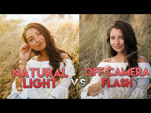 Natural Light VS Off Camera Flash (OCF) - Two Photographers Shoot The Same Model (ft. Godox AD200)