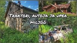 Nostalgiaa herättävä maatila Pohjois-Karjalassa kaukana kaikesta. VLOGI 4k SAAB