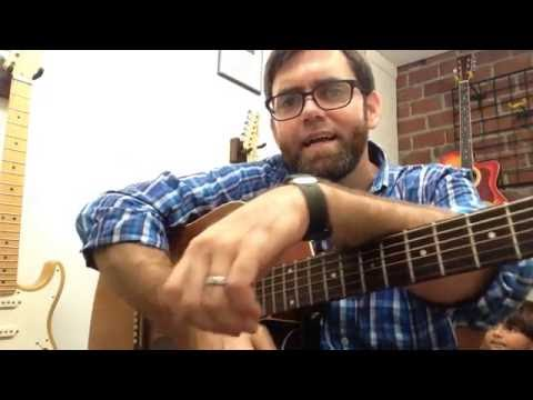 """Guitar Lesson: """"We WIll Rock You"""" by Queen (Newbie)"""