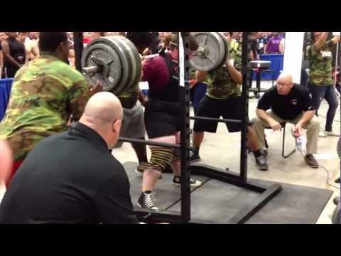 Albert Willingham state record squat 805 at Texas high school state  powerlifting meet (thspa)
