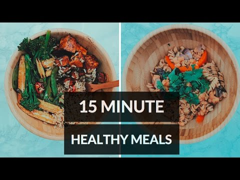 15 MINUTE HEALTHY HIGH PROTEIN MEALS // VEGAN