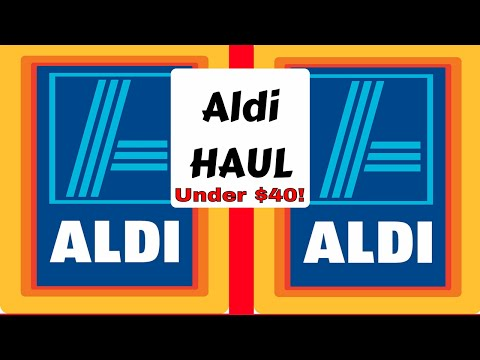 ((Giveaway Closed)) Aldi Grocery Haul | Family of 6 plus | Under $40!!! Plus meal plan