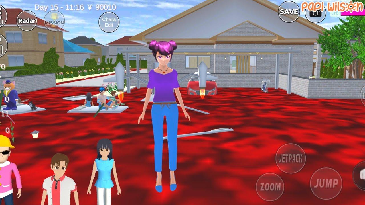 Download Mio Yuta Sakura Takagi Dan Anto Main Floor Is Lava🤣😱🥵 | Sakura School Simulator | Papi Wilson
