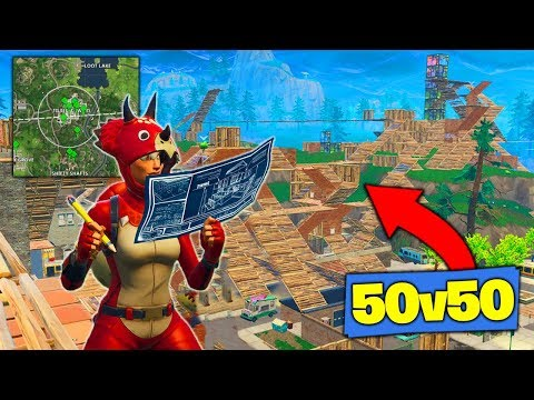 What Happens When 50v50 ENDS IN TILTED TOWERS! [Fortnite Battle Royale]