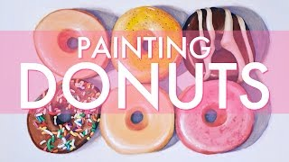 Painting Donuts for #DRAWMYFOOD