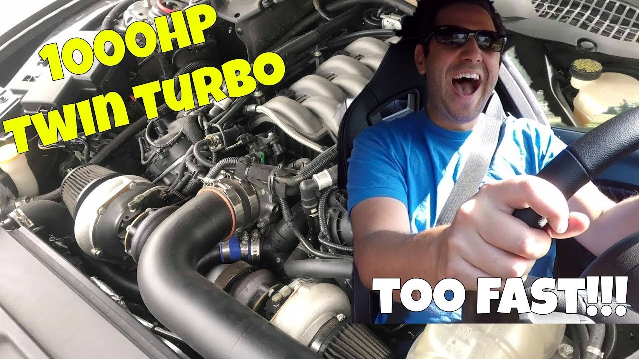 This 1000HP Twin Turbo Mustang GT Scared the Hellcat Out of Me! Faster than a Dodge Demon?