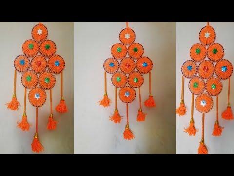 Download How to make  door bangles  ! oon se jhumar banane ka asan tarika......./ DIY  woolen jhumar ......