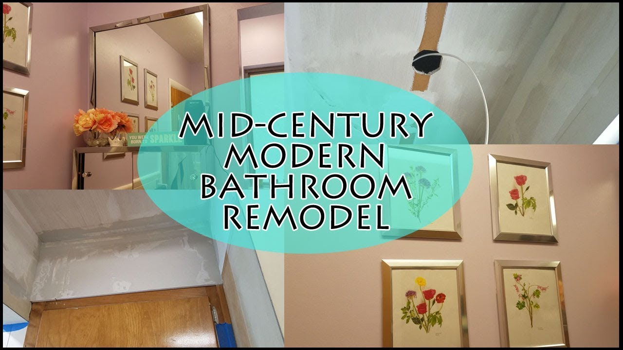 Mid-Century Modern Vintage Bathroom Remodel! - YouTube