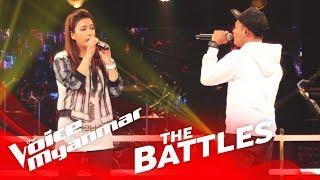 "Julia Htay vs. Woofer: ""အမုန္းၿမိဳ႕သူ"" - The Battles - The Voice Myanmar 2018"