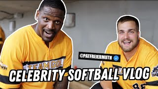 Arthur Moats & Deke at the Three Rivers Celebrity Softball Game (Pittsburgh Steelers/Pitt Panthers)