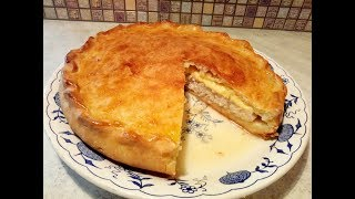 Рецепт закрытого пирога с курицей и сыром , на скорую руку.