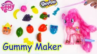 Real Food Gummy Creations Candy Maker Playset With MY Little Pony Pinkie Pie Shopkins Toy Unboxing