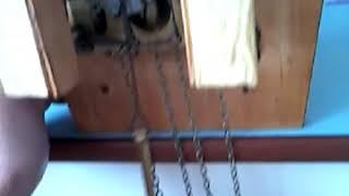 часы маяк с кукушкой изнутри. работа механизма боя и кукования