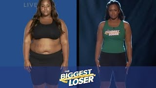 Pam, nathan, and alex are up to the scale at season 14 finale of biggest loser. find out who takes lead in race for at-home prize $100...