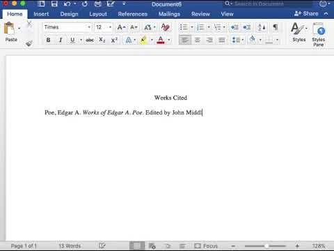 MLA Format Works Cited Book Entry  Volume