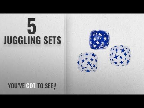 Top 10 Juggling Sets [2018]: Eureka Junior Acrobat Juggling Balls (Set of 3, Blue/White)